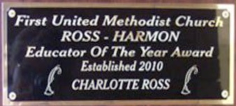 Ross- Harmon Educator of the Year